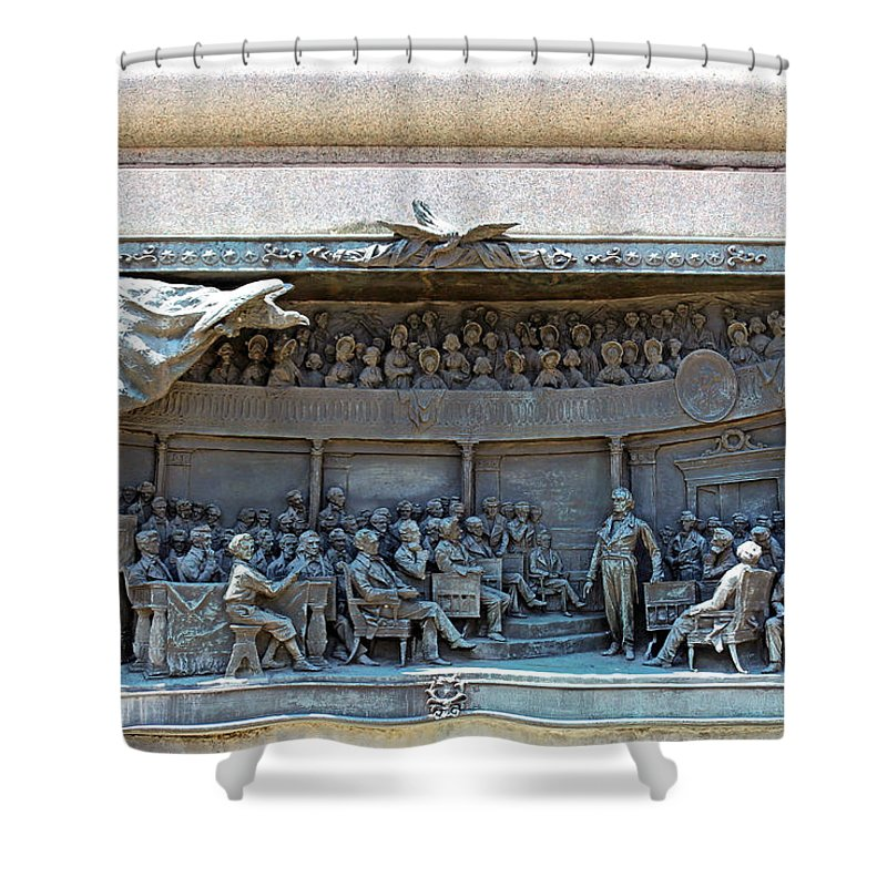 Daniel Shower Curtain featuring the photograph Daniel Webster In The Webster - Hayne Debate by Cora Wandel