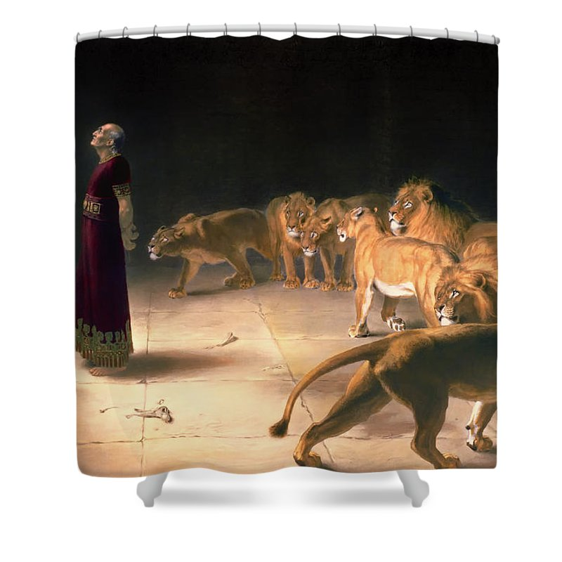 Painting Shower Curtain featuring the painting Daniel's Answer To The King by Mountain Dreams