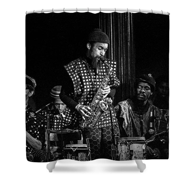 Jazz Shower Curtain featuring the photograph Danny Davis With Sun Ra Arkestra by Lee Santa