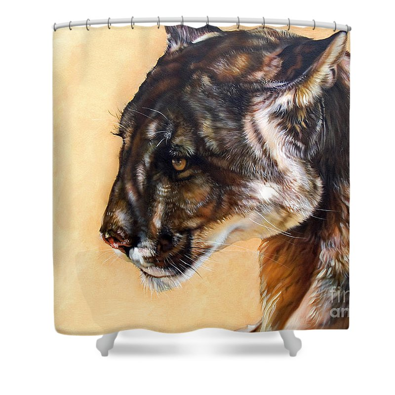 Catamount Shower Curtain featuring the painting Dappled by J W Baker