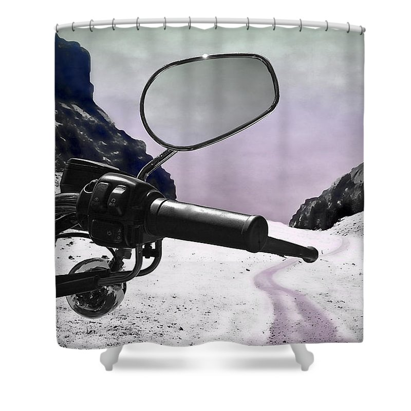 Handle Shower Curtain featuring the photograph Daredevil by Evelina Kremsdorf