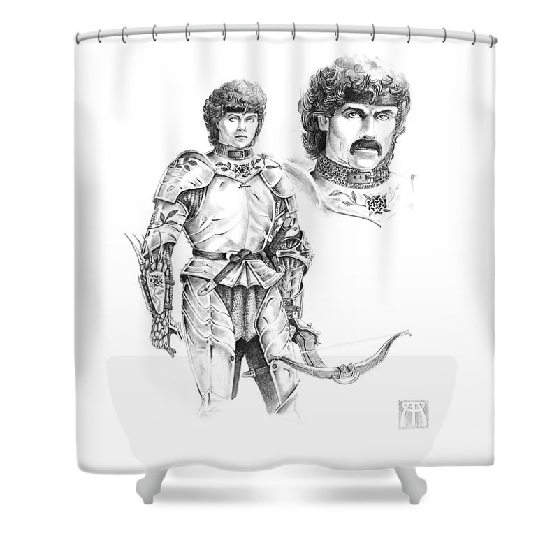 Knight Shower Curtain featuring the drawing Daria by Melissa A Benson