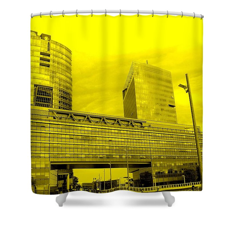 Vienna Shower Curtain featuring the photograph Daring Architecture by Ian MacDonald