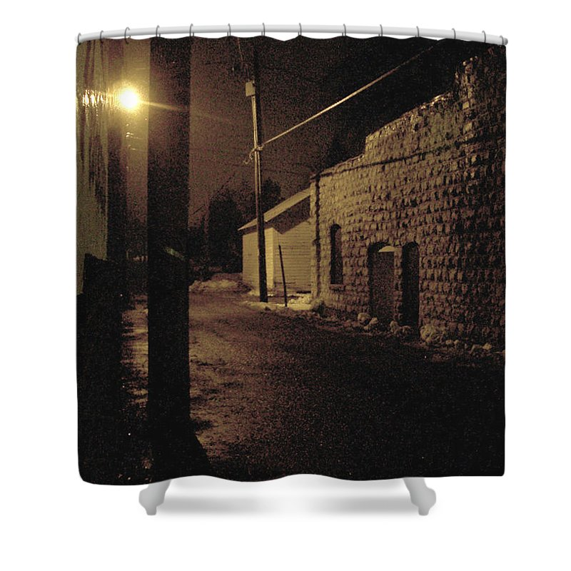 Alley Shower Curtain featuring the photograph Dark Alley by Tim Nyberg