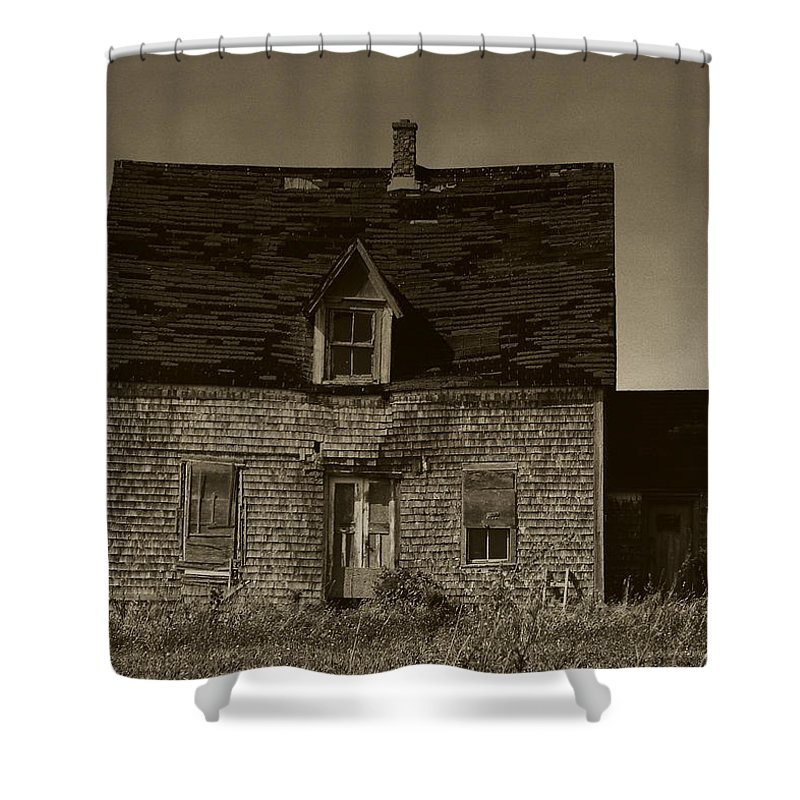 Old House Shower Curtain featuring the photograph Dark Day On Lonely Street by RC DeWinter