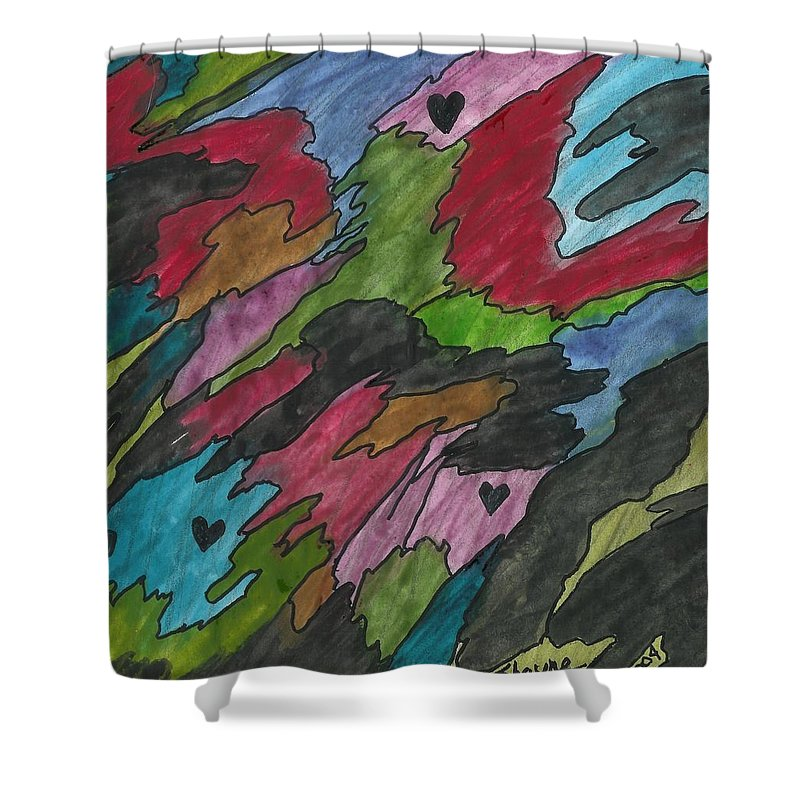 Watercolor Painting Shower Curtain featuring the painting Dark Days by Susan Schanerman