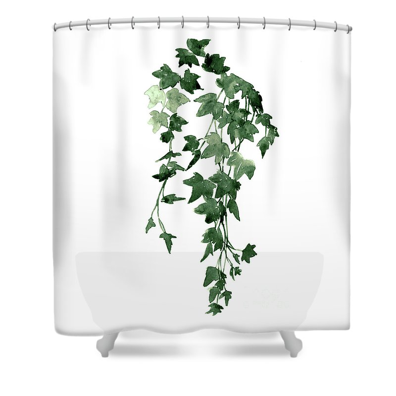 Dark Green Hanging Ivy Vines Shower Curtain For Sale By Joanna Szmerdt