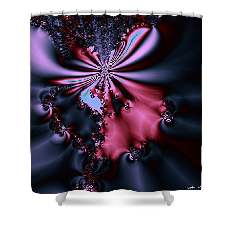 Digital Art Shower Curtain featuring the digital art Dark Orchid by Amanda Moore