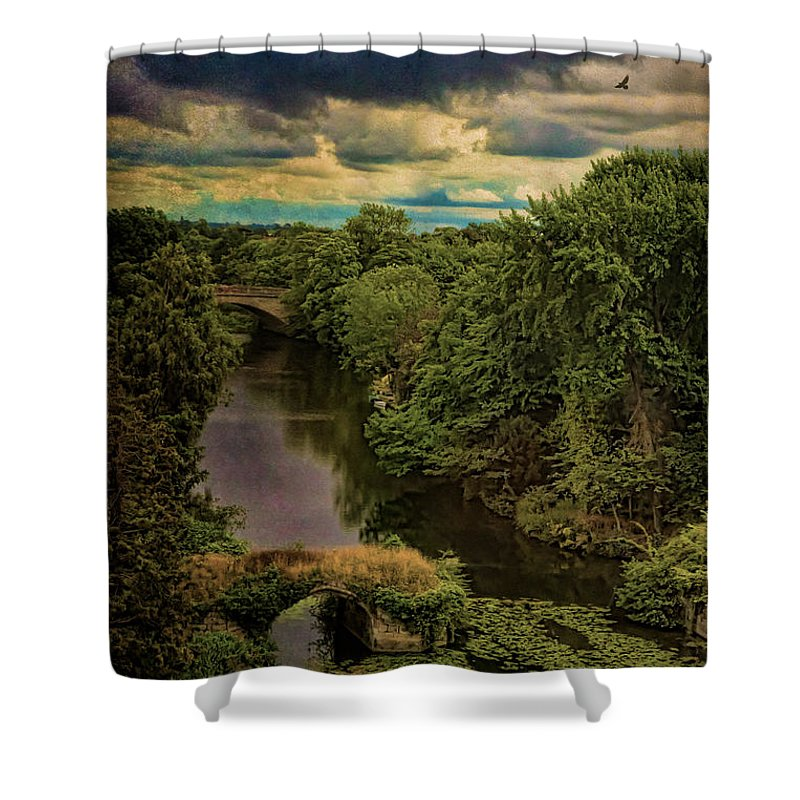 Avon Shower Curtain featuring the photograph Dark Skies Over The Avon by Chris Lord