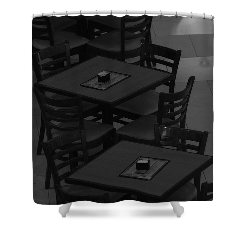 Tables Shower Curtain featuring the photograph Dark Tables by Rob Hans