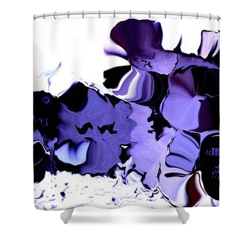 Vegetables Shower Curtain featuring the digital art Dark Turbulence by Ron Bissett