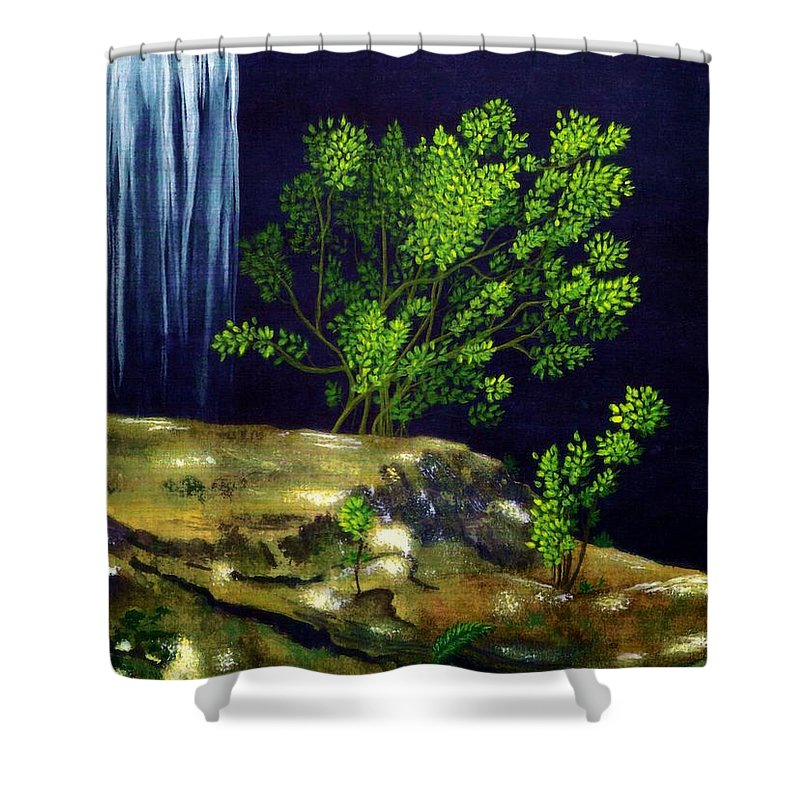 Fine Art Shower Curtain featuring the painting Dark Waters by Patricia Griffin Brett