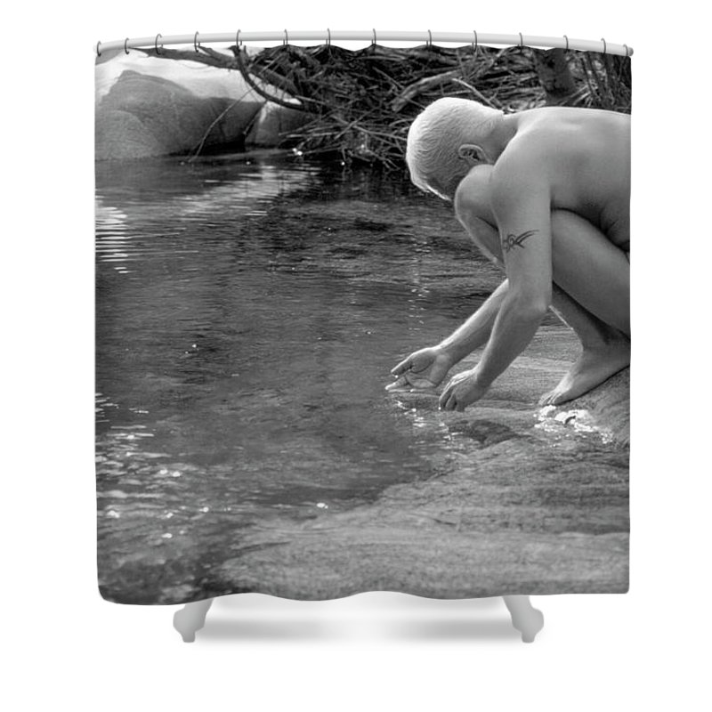 Male Shower Curtain featuring the photograph Darrell B. 1-1 by Andy Shomock