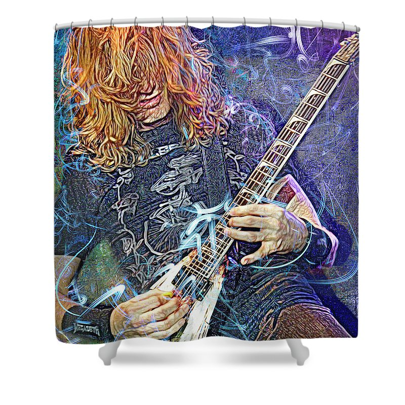 Dave Mustaine Megadeth Shower Curtain For Sale By Mal Bray