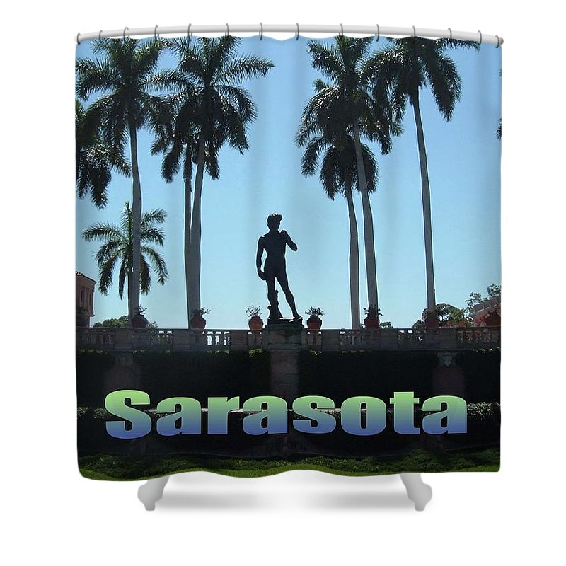 Ringling Museum Shower Curtain featuring the photograph David In Sarasota by Jost Houk