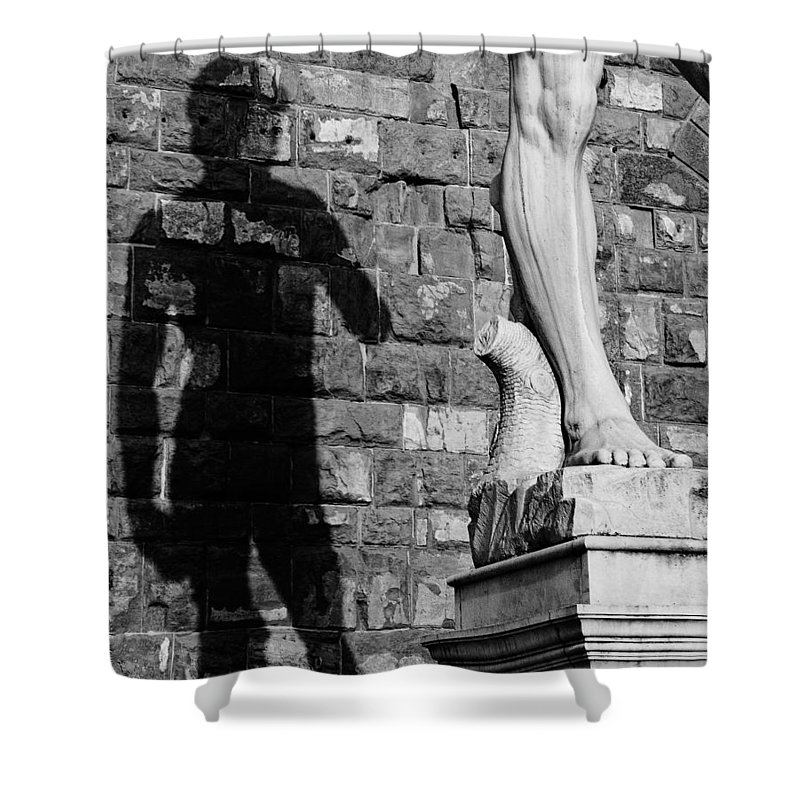 David Shower Curtain featuring the photograph David by Mick Burkey