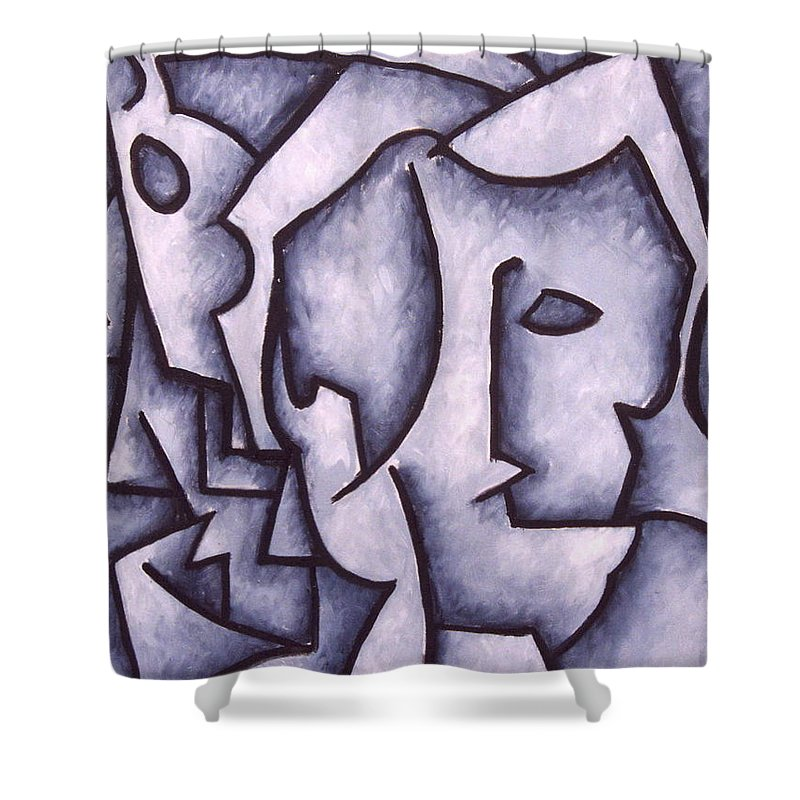 Abstract Shower Curtain featuring the painting David by Thomas Valentine