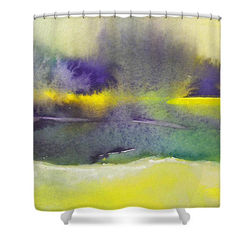 Landscapes Shower Curtain featuring the painting Dawn 20 by Miki De Goodaboom