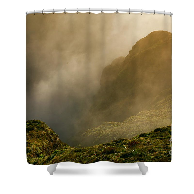 Azores Shower Curtain featuring the photograph Dawn At Fogo Crater by Gaspar Avila