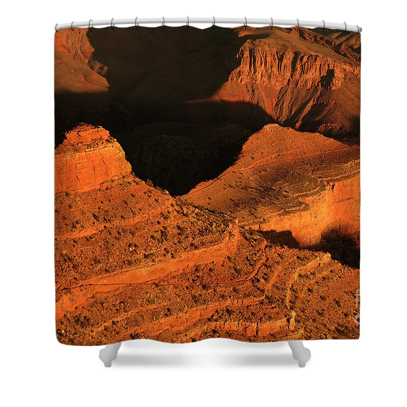 Grand Canyon Shower Curtain featuring the photograph Dawn At The Grand Canyon by Jackie Follett