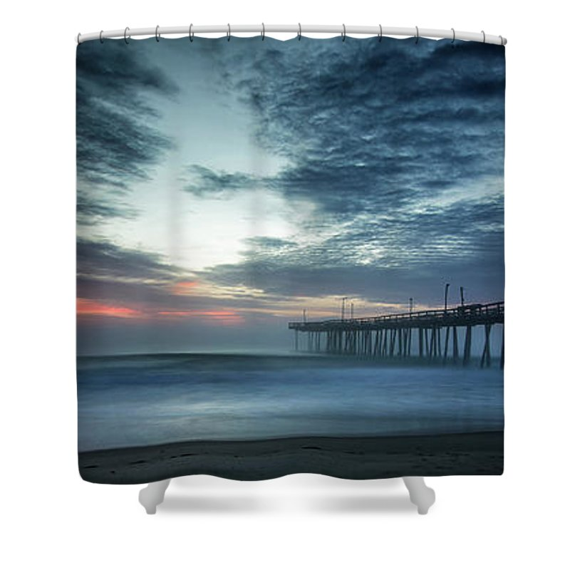 Sunrise Shower Curtain featuring the photograph Dawn Breaking Through by Art Cole