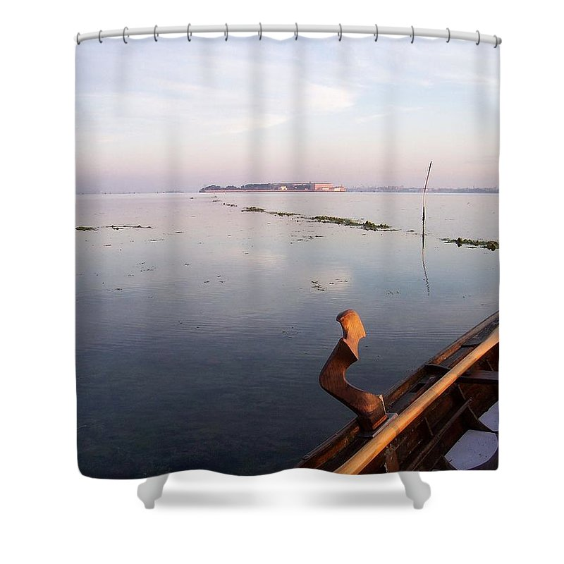 Venice Shower Curtain featuring the photograph Dawn On Lagoon by Erla Zwingle