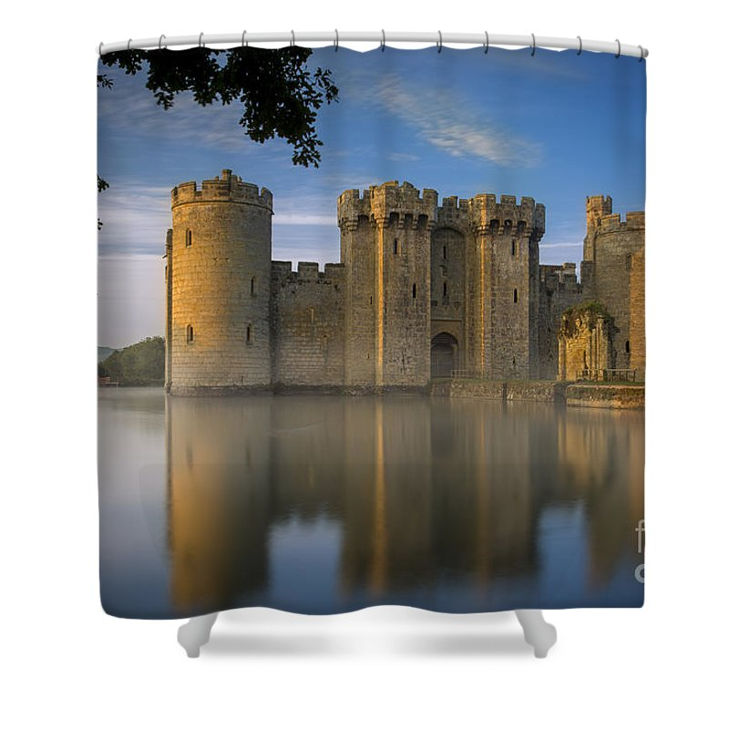 Attraction Shower Curtain featuring the photograph Dawn Over Bodiam Castle by Brian Jannsen