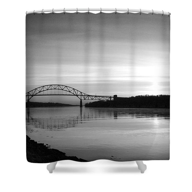 Cape Cod Canal Shower Curtain featuring the photograph Dawn Over The Cape Cod Canal by Conor McLaughlin