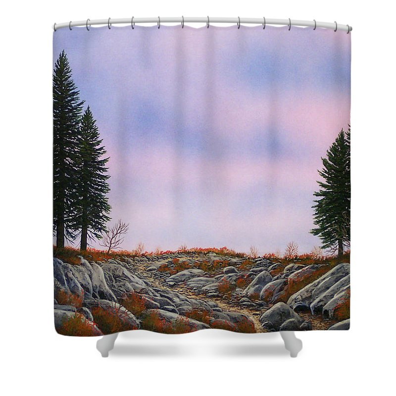 Landscape Shower Curtain featuring the painting Dawn Pacific Crest Trail by Frank Wilson