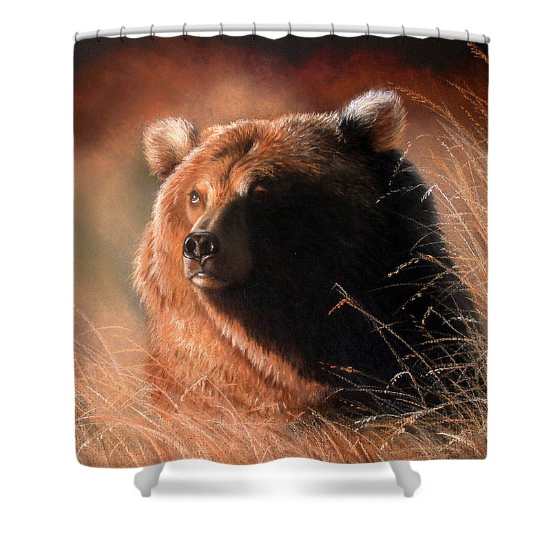 Wildlife Shower Curtain featuring the painting Day Dream by Deb Owens-Lowe
