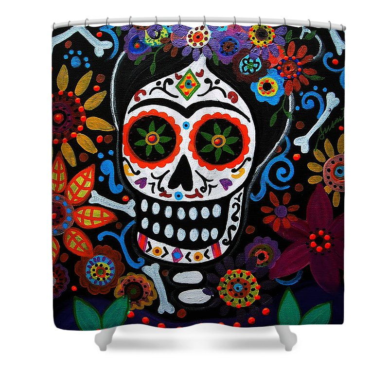 Day Of The Dead Frida Kahlo Painting Shower Curtain For Sale By