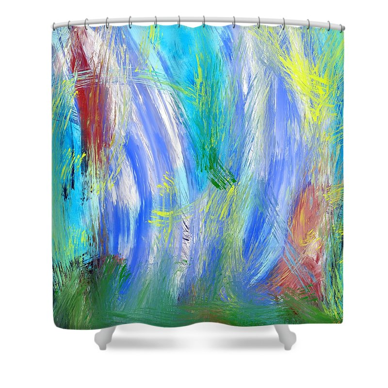Minkowitz Shower Curtain featuring the digital art Day, Spring by Bill Minkowitz