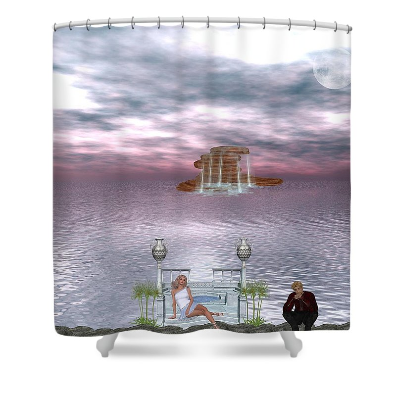 Daydreaming Shower Curtain featuring the digital art Daydreaming by RiaL Treasures
