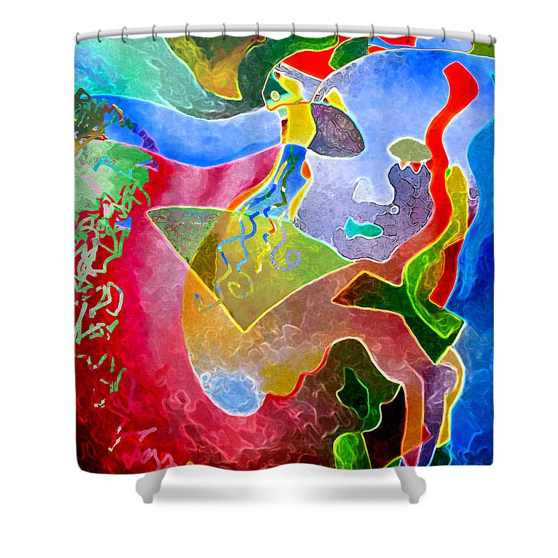 Coffee Shower Curtain featuring the painting Daydreams by Sally Trace
