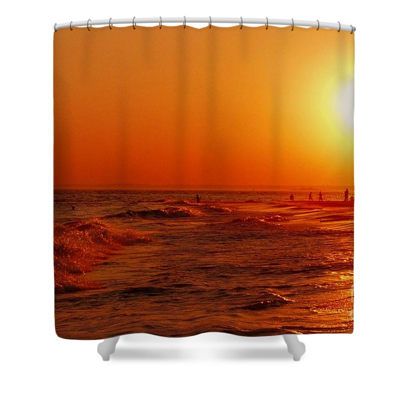 Sunset Shower Curtain featuring the photograph Day's End by Kendall Eutemey