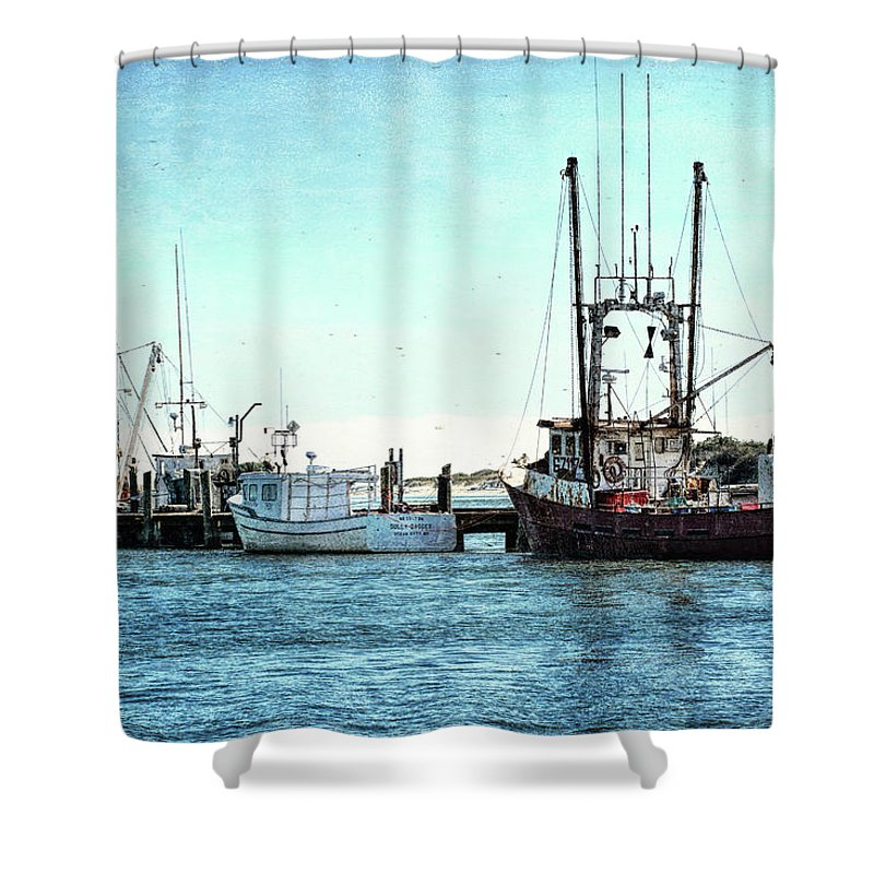 Waterscape Shower Curtain featuring the photograph Days End... by Richard Macquade