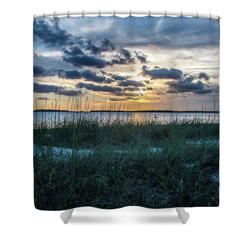 Peaceful Shower Curtain featuring the photograph Days End by Rick Allen