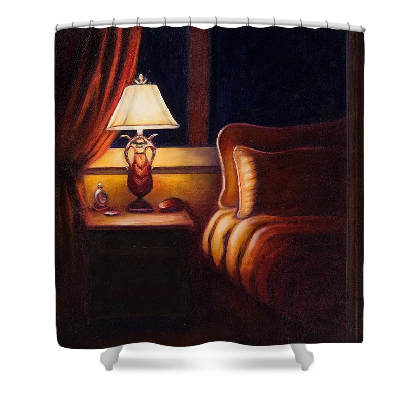 Still Life Shower Curtain featuring the painting Days End by Shannon Grissom