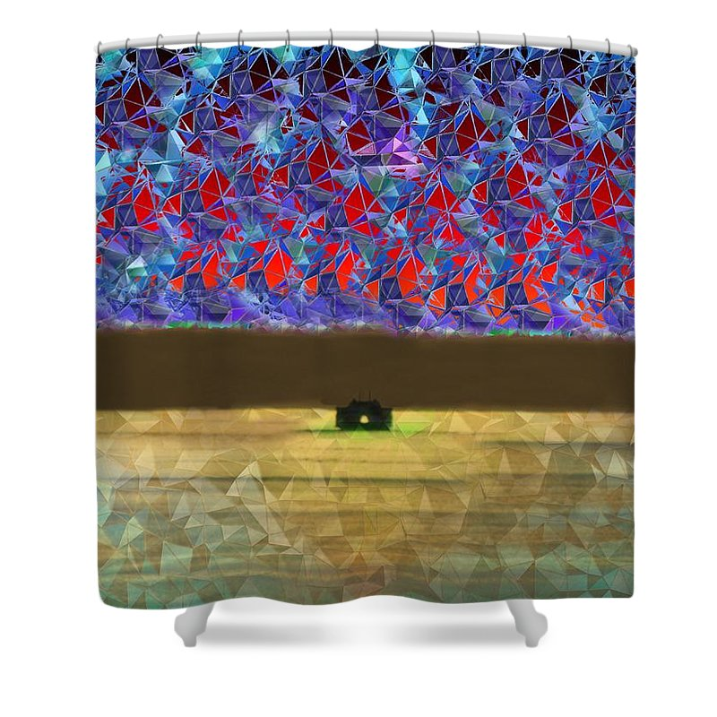 Abstract Shower Curtain featuring the photograph Days End by Tim Allen