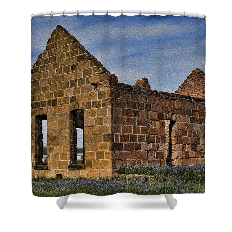 Bluebonnets Shower Curtain featuring the photograph Days Past by Stephen Stookey