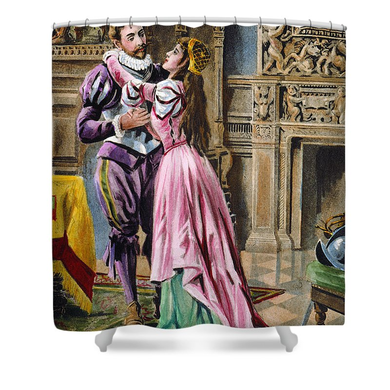 1539 Shower Curtain featuring the photograph De Soto & Isabella, 1539 by Granger