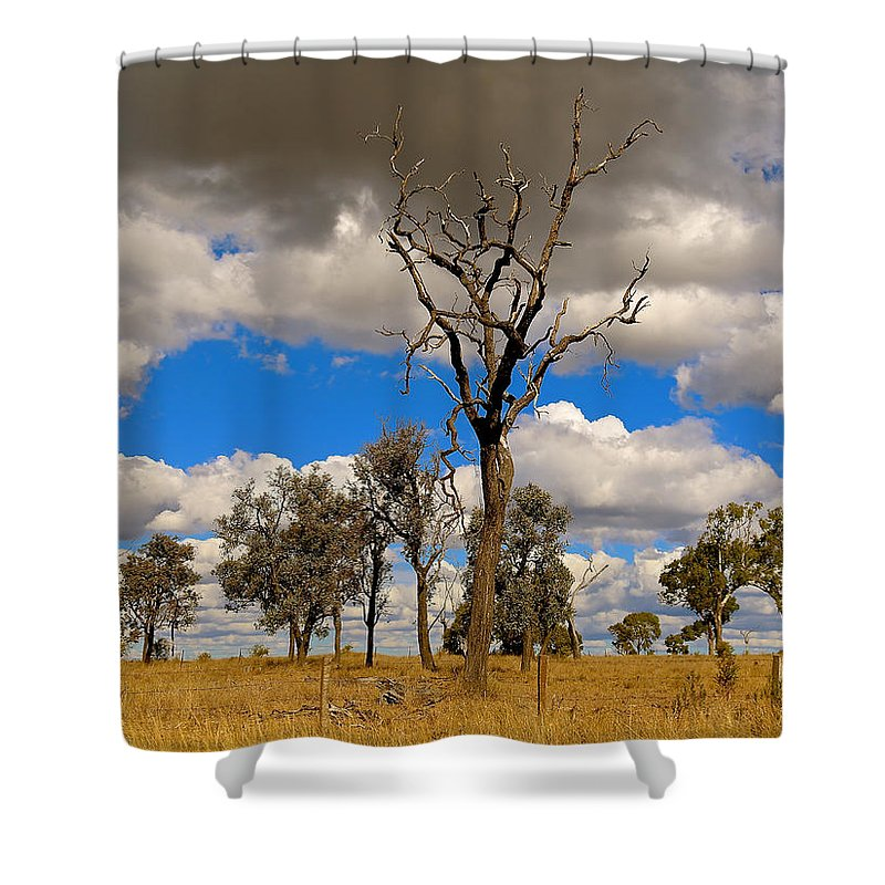 Landscape Shower Curtain featuring the photograph Dead Peaks by Joseph Masters