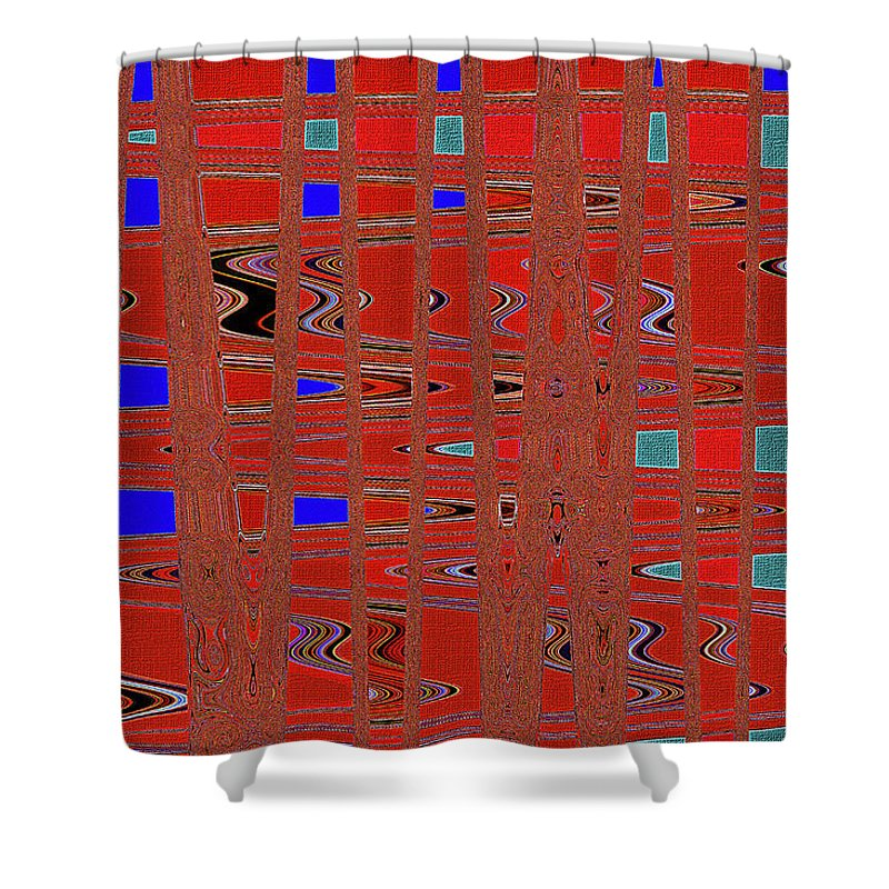 Dead Tree Abstract #4 Shower Curtain featuring the digital art Dead Tree Abstract #4 by Tom Janca