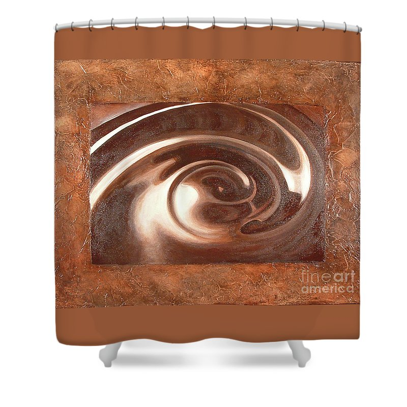 Painting Shower Curtain featuring the painting Death By Chocolate by Daniela Easter