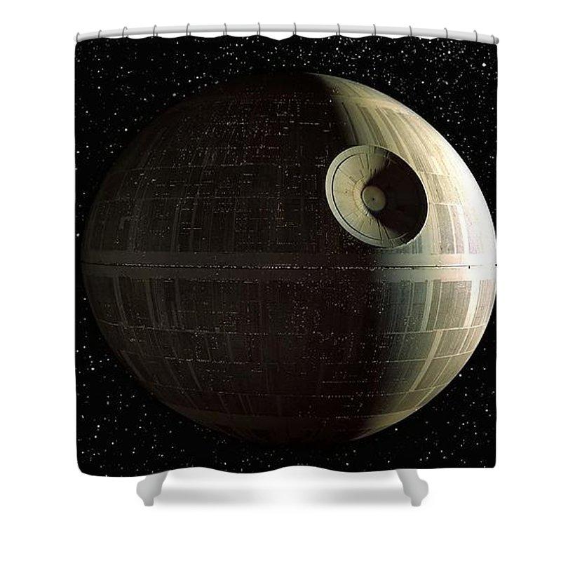 Death Star Shower Curtain Featuring The Photograph By Baltzgar