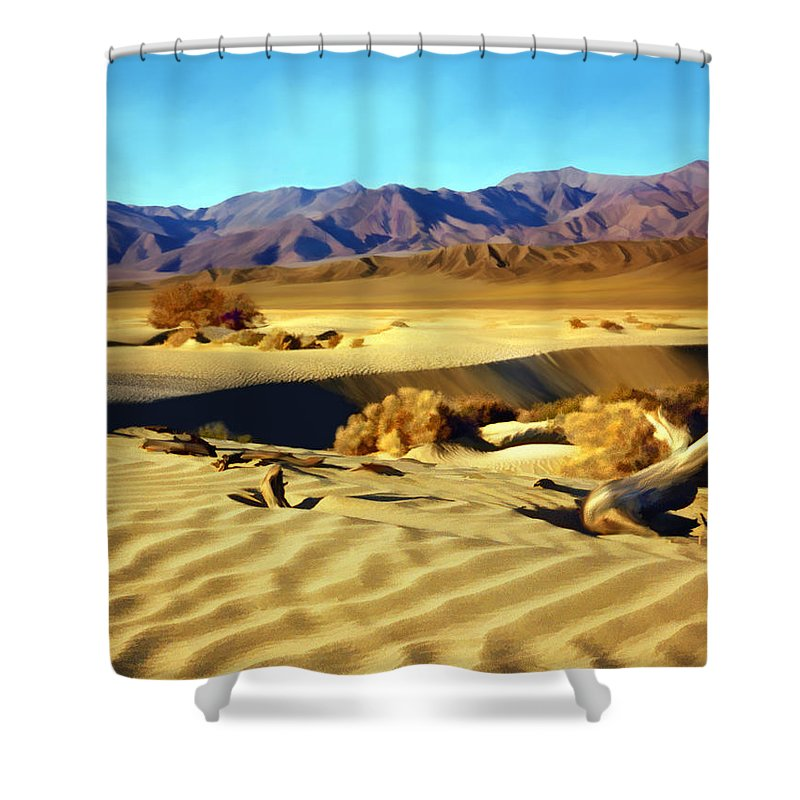 Death Valley Shower Curtain featuring the photograph Death Valley by Kurt Van Wagner