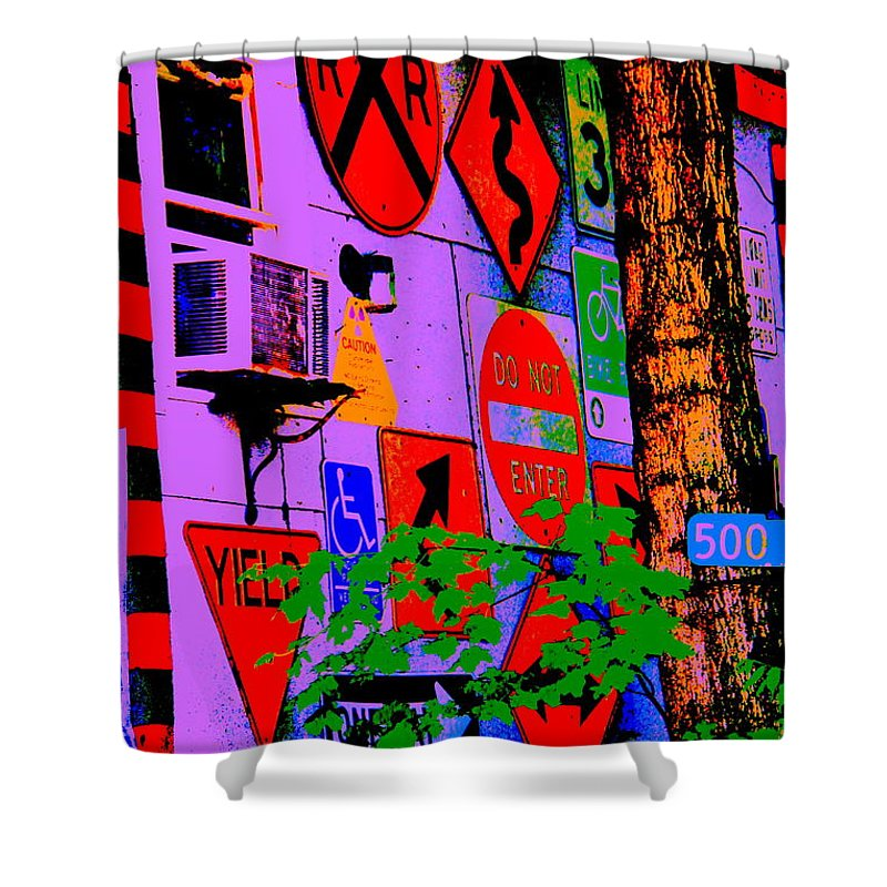 Decisions Decisions Shower Curtain featuring the photograph Decisions Decisions by Ed Smith