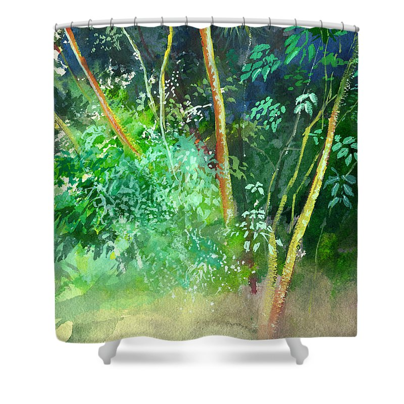 Water Color Shower Curtain featuring the painting Deep by Anil Nene