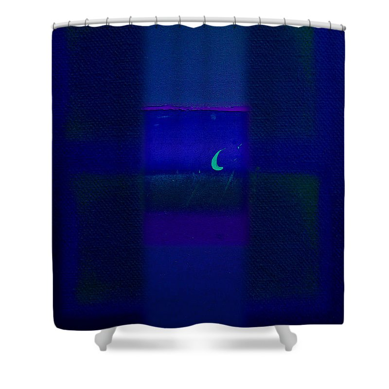 Rothko Shower Curtain featuring the painting Deep Blue Sea by Charles Stuart