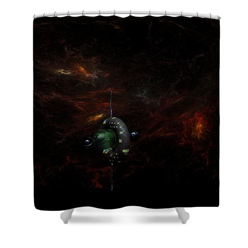 Digital Painting Shower Curtain featuring the digital art Deep Space Gamma 1 by David Lane